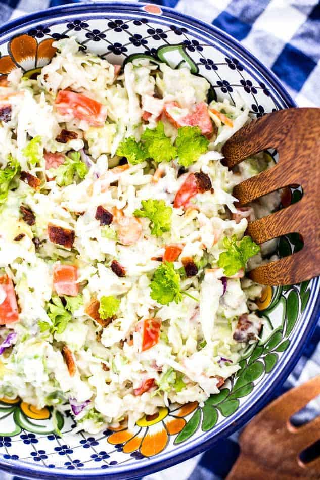 5 Minute BLT Coleslaw Salad recipe - platingpixels.com