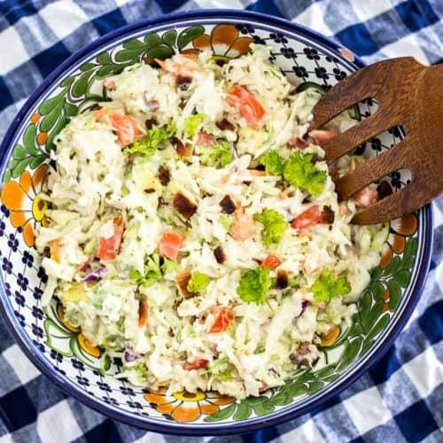 5 Minute BLT Coleslaw Salad
