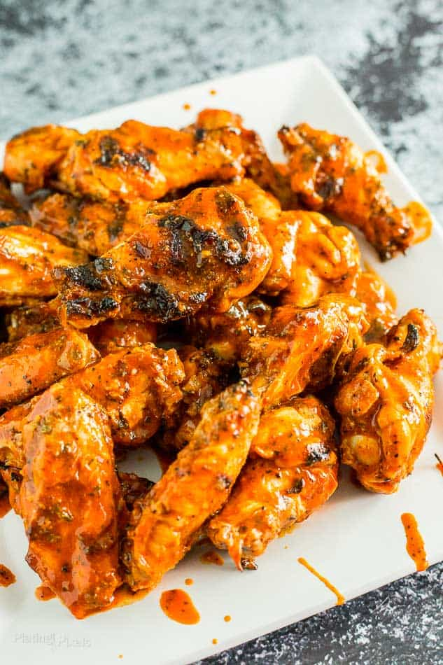 Easy Saucy Grilled Buffalo Wings recipe - platingpixels.com