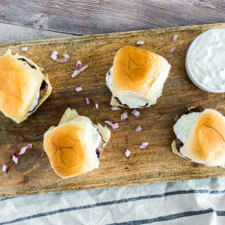 Grilled Gyro Sliders with Homemade Tzatziki Sauce