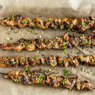 Grilled Pork Satay Skewers