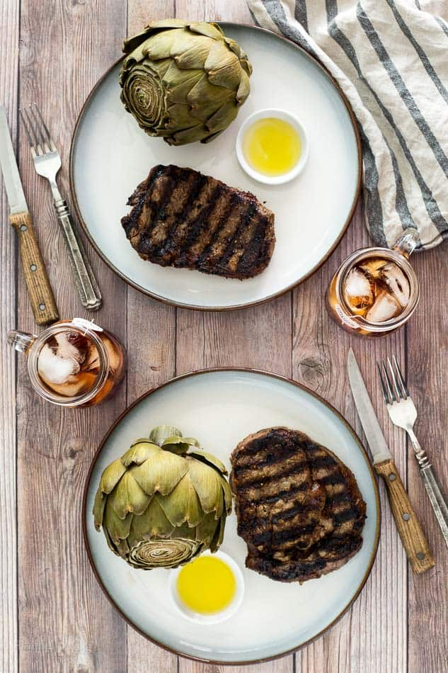 Plated Grill Ribeye Steak - platingpixels.com