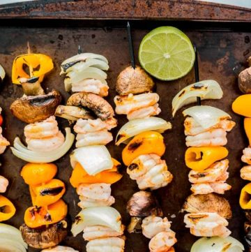 Grilled Habanero Shrimp Fajita Skewers recipe - platingpixels.com