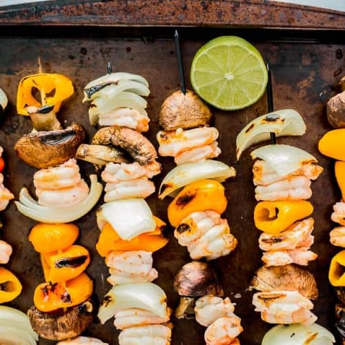 Habanero Shrimp Fajita Skewers