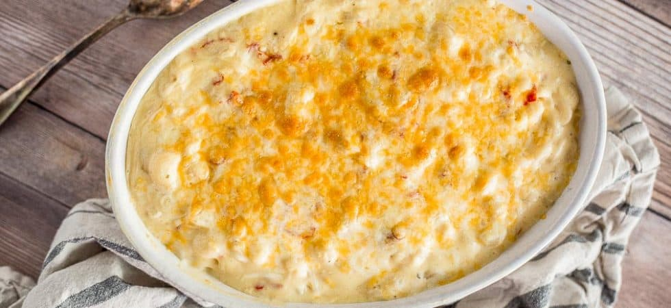 Gluten-Free Mac and Cheese with Goat Cheese and Roasted Peppers recipe - platingpixels.com
