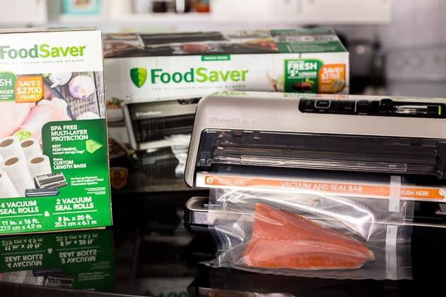 FoodSaver vacuum sealing salmon - platingpixels.com