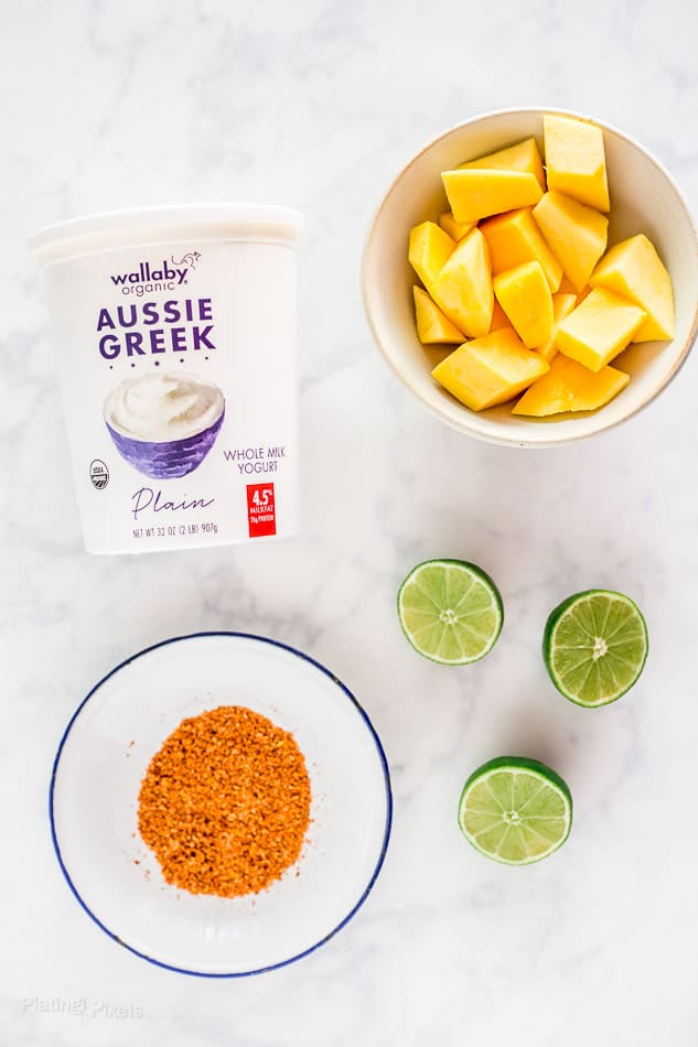 Ingredient for Mexican Mango with Chili and Lime Yogurt Bowls recipe - platingpixels.com