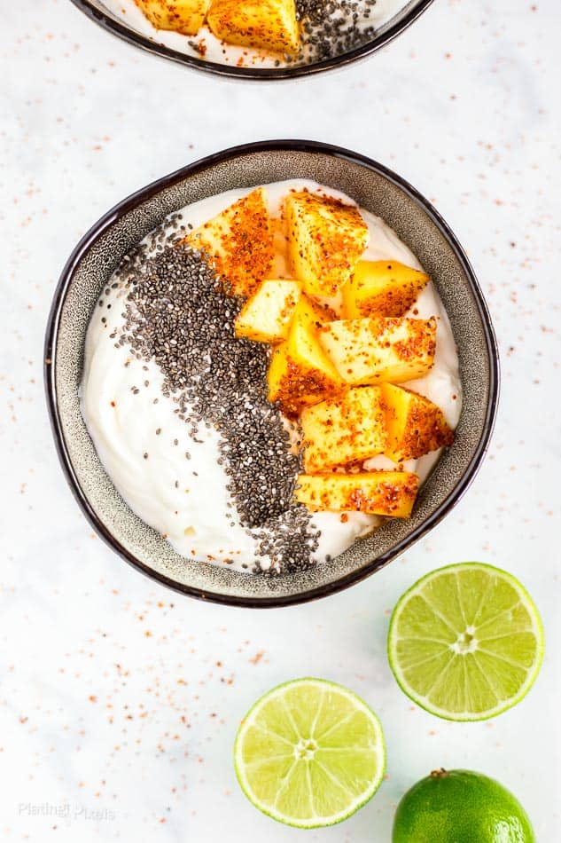 Mexican Mango with Chili and Lime Yogurt Bowls recipe - platingpixels.com