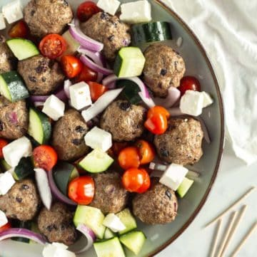 Greek Baked Meatballs