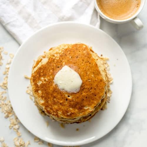 Healthy Banana Oatmeal Pancakes (Gluten-Free)