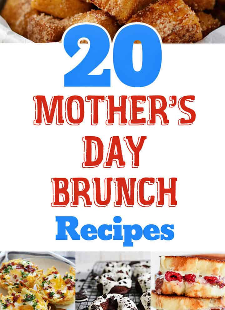 20 Mother's Day Brunch Recipes roundup image collage