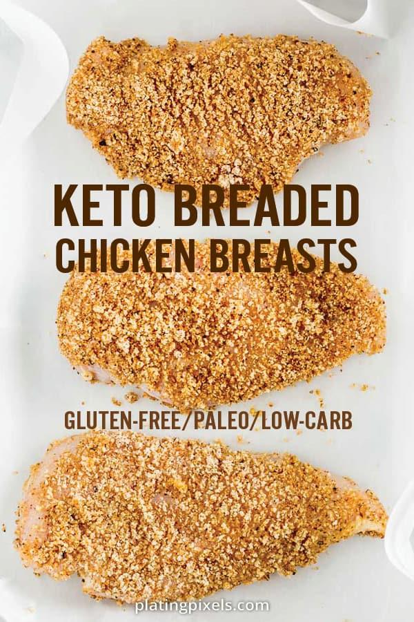 Keto Baked Breaded Chicken Breast