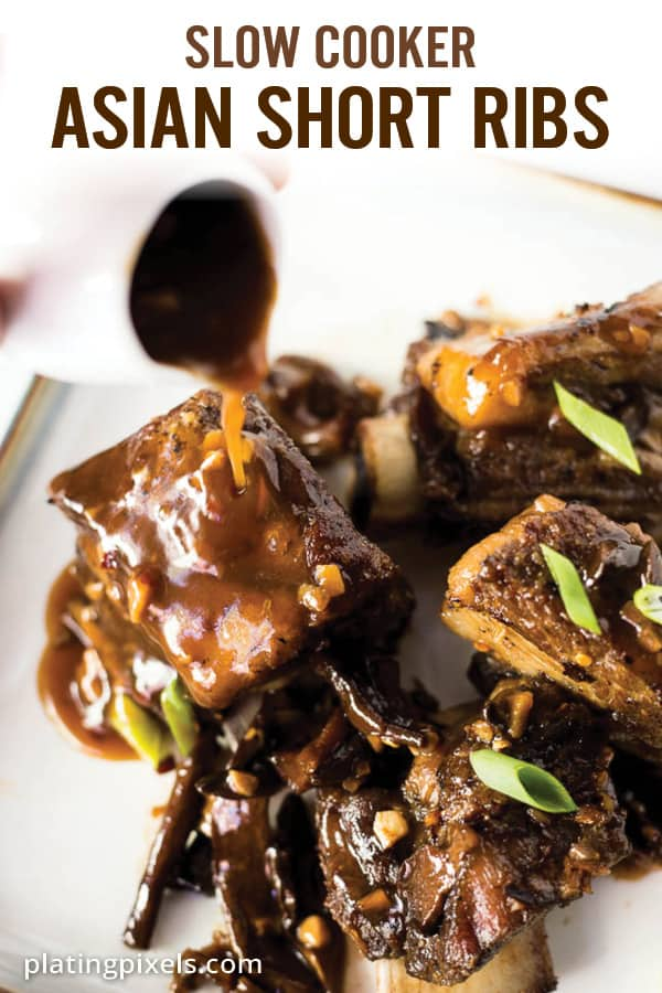 Slow Cooker Short Ribs with Korean Sauce