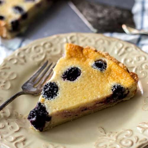 Southern Style Blackberry Custard Pie