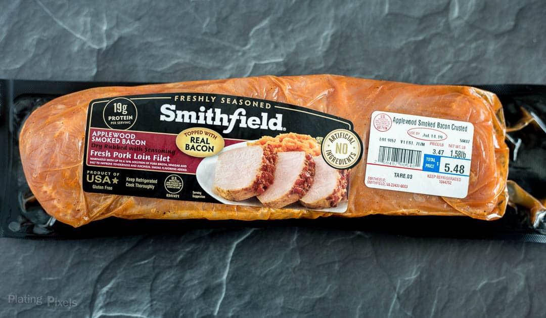Package of Smithfield Applewood Bacon Pork Loin Filet