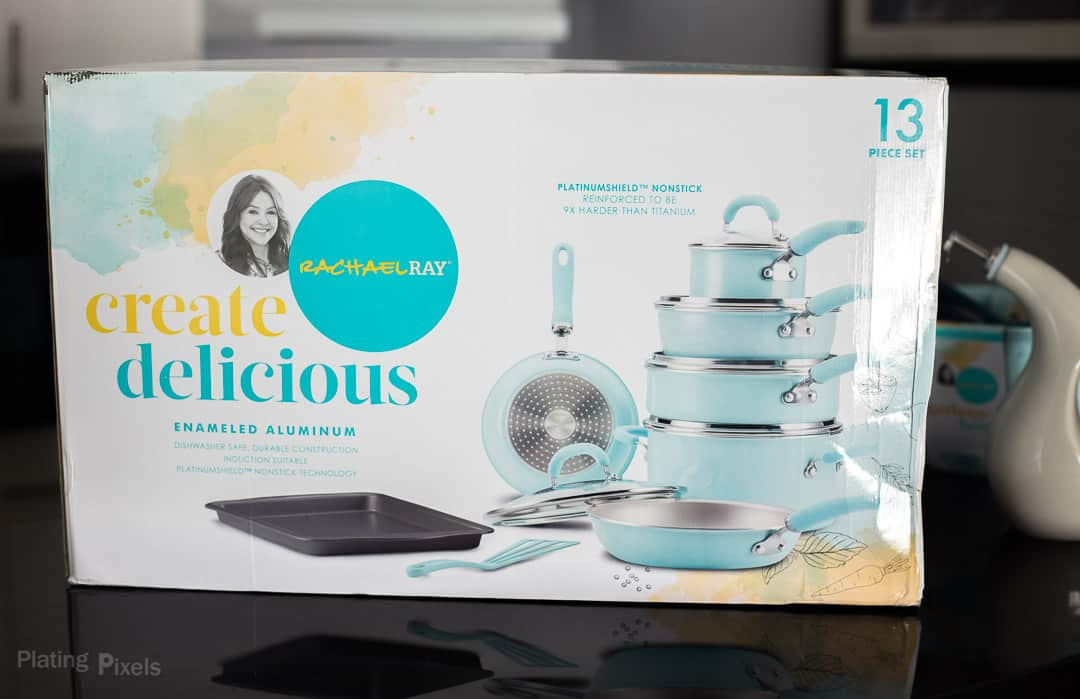 Rachael Ray Create Delicious Cookware set in package