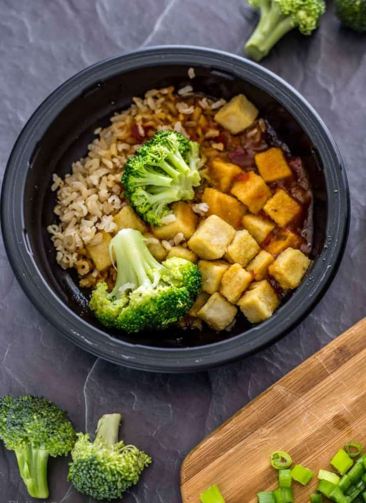 Bowl of Sweet Earth General Tso's Tofu