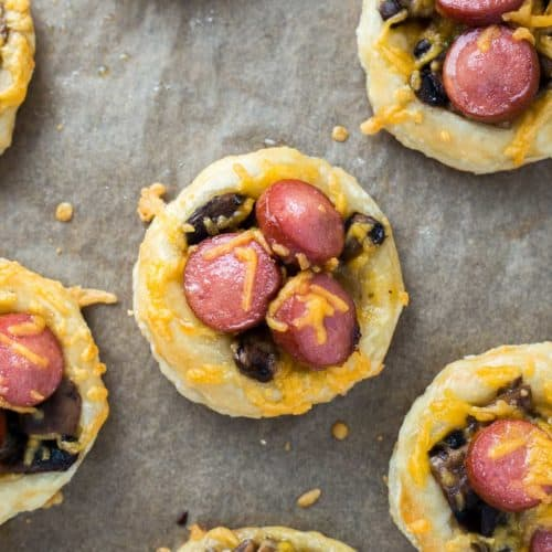 Cheesy Hot Dog Tartlets