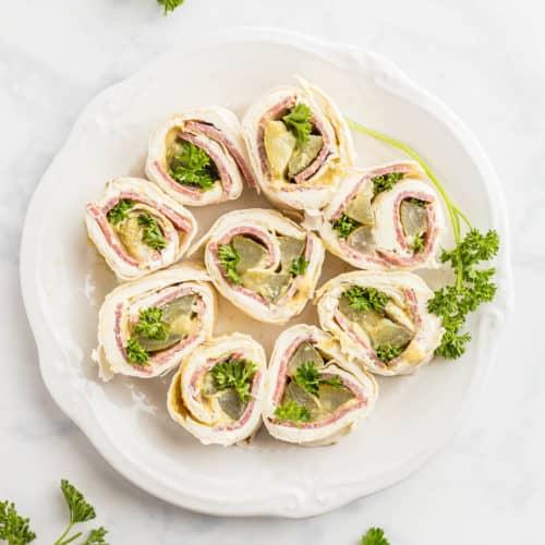Salami and Cream Cheese Pinwheels