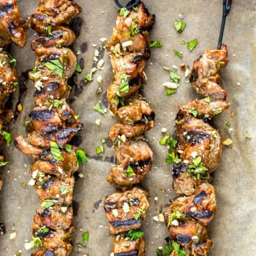 Grilled Pork Satay Skewers