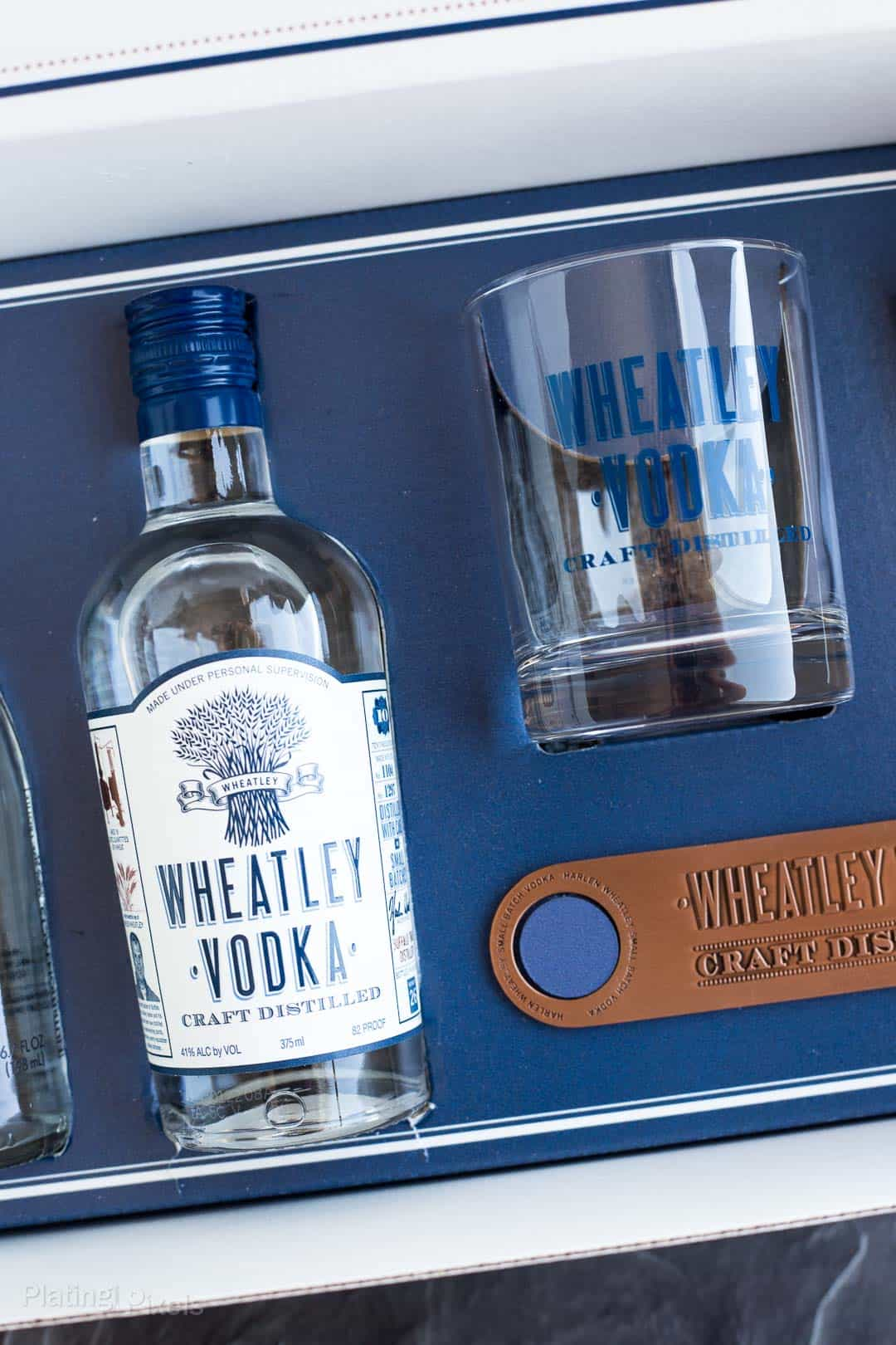 Close up of a Wheatley Vodka mixer box