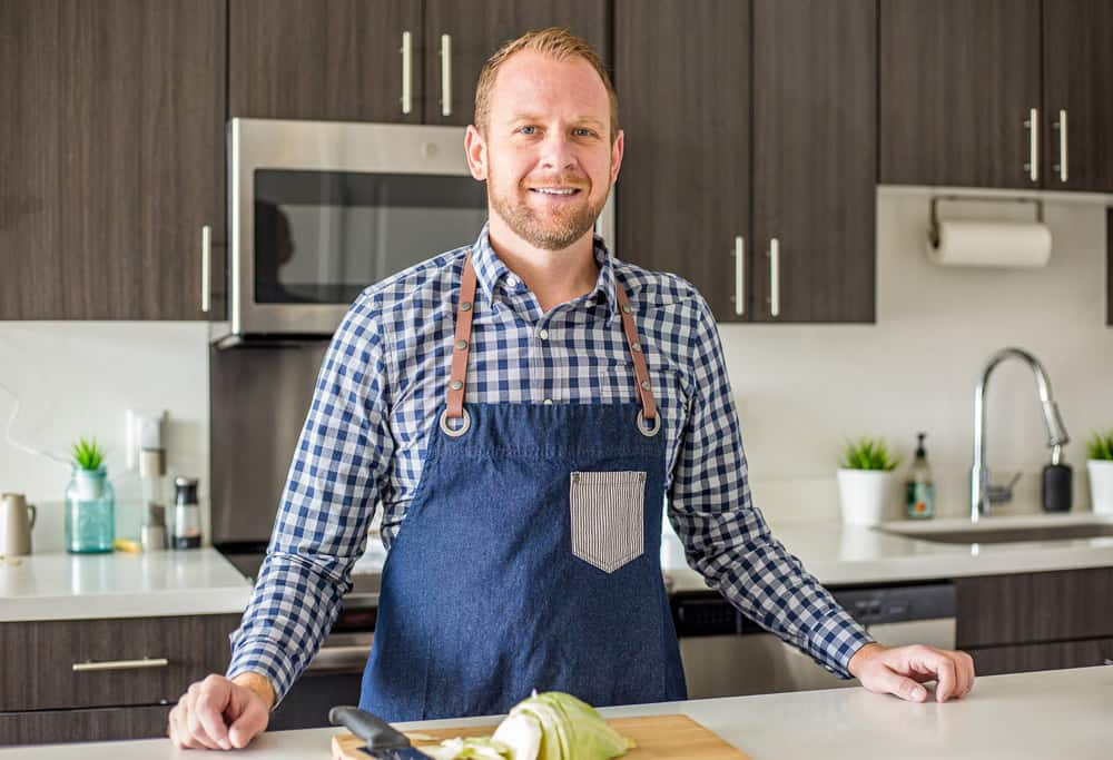 Matt Ivan of Plating Pixels in the kitchen