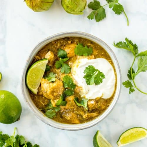 Chicken Chile Verde (With 3 Cooking Options)